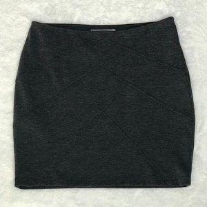 FOREVER 21 Mini Slim Skirt   Dark Gray   Small